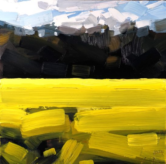 1 Field of Rapeseed near George Nympton 20 x 20 cm oil on board