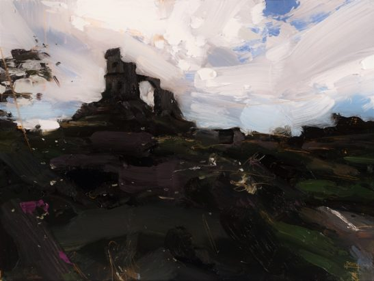 10 Mow Cop Castle 30 x 23 cm oil on board