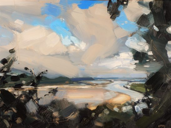 11 ...But the Weather turned around Laugharne 22 x 30 cm oil on board