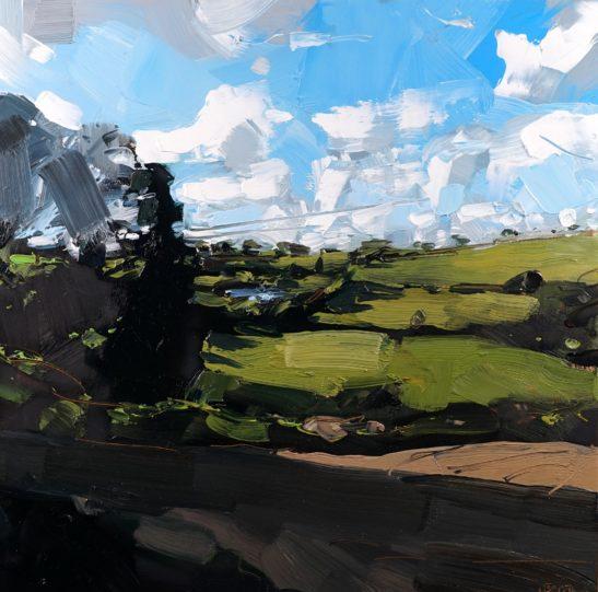 11 Whitemoor Grange Evening 20 x 20 cm oil on board