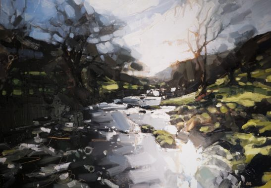 12 Doone Valley 22 x 30 cm oil on board