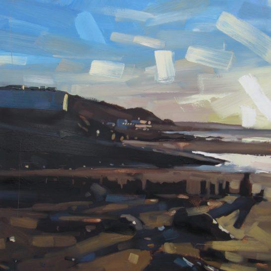 13 Westward Ho Evening 50 x 50m cm oil on board
