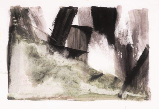 17 Close up II 59 x 42 cm Bideford Black on paper
