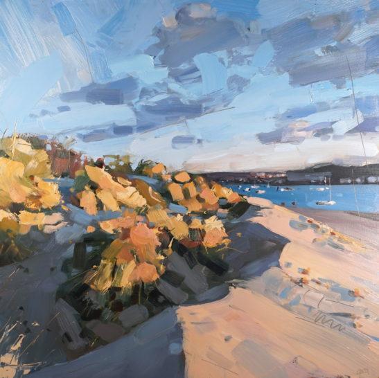 19 Instow Golden Hour 50 x 50 cm oil on board