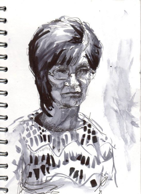 22 Sue pen and ink