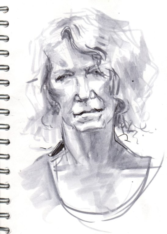 23 Denise pen and ink