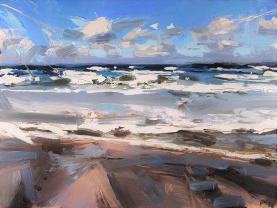 23 Waves Westward Ho 46 x 61 cm oil on board