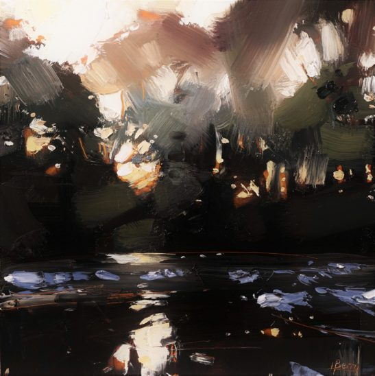 24 River Taw Evening 20 x 20 cm oil on board