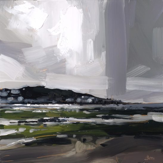 34 Storm over Appledore 20 x 20 cm oil on board