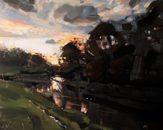5 Autumn Light River Taw 41 x 51 cm oil on board