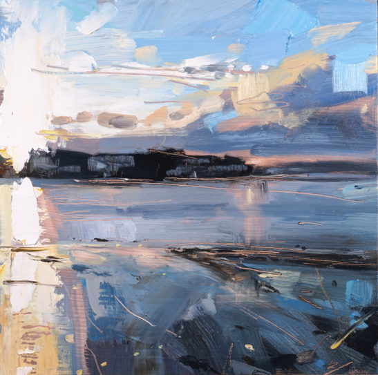 5 Instow Bright Evening 20 x 20 cm oil on board