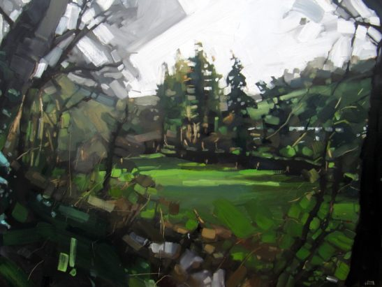 6 Tutshill Woods 60 x 80 cm oil on board