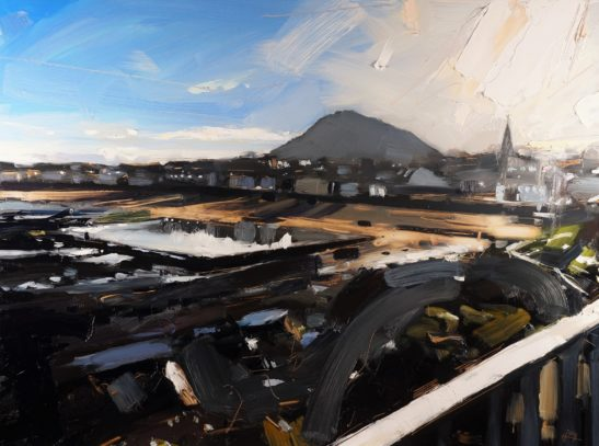 8 North Berwick Law 46 x 61 cm oil on board