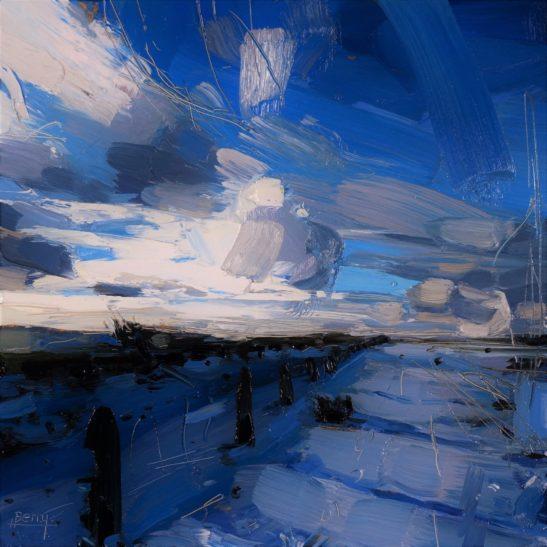 8 Snow over Exmoor 20 x 20 cm oil on board