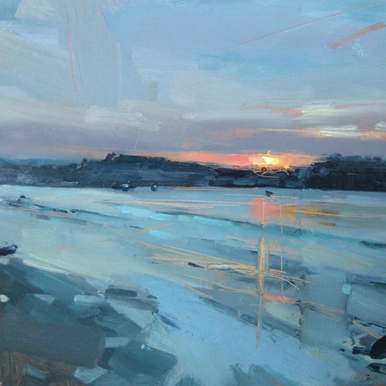 9 Instow 20 x 20 cm oil on board