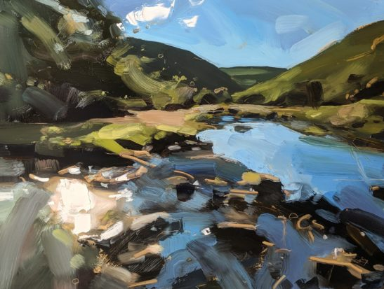 Badgeworthy Water Doone Valley 46 x 61 cm oil on board
