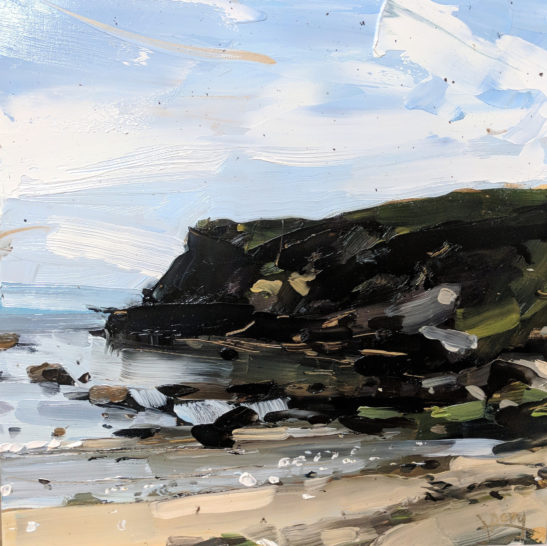 Chapel Point Cove 20 x 20 cm oil on board