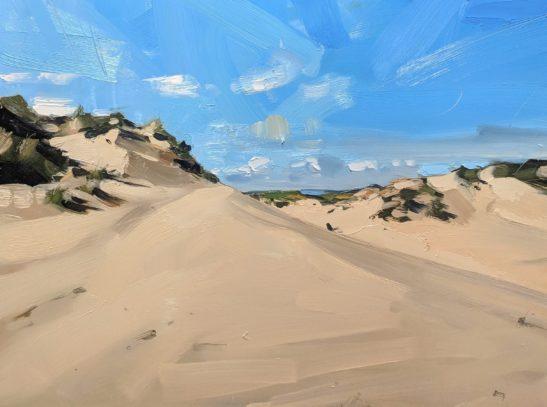 Flagpole Dune 46 x 61 cm oil on board