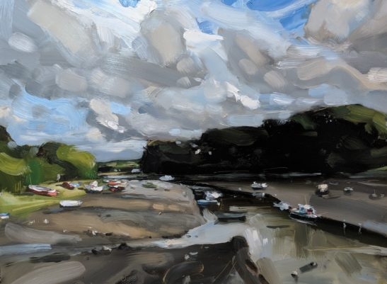 Fremington Pill 46 x 61 cm oil on board