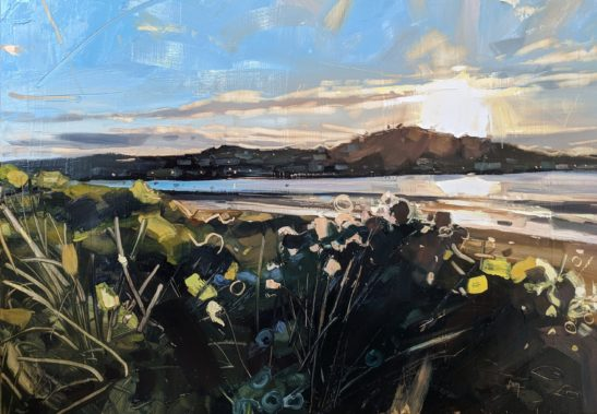 Instow Evening 100 x 70 cm oil on board