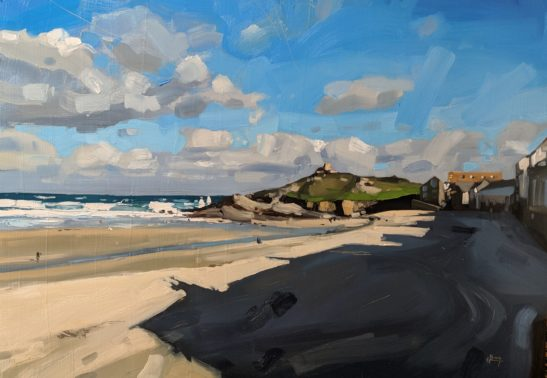 Porthmeor Beach St. Ives 100 x 70 cm oil on board