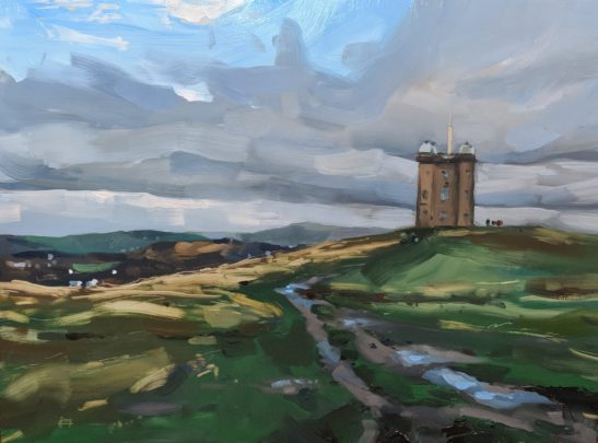 The Cage Lyme Park 46 x 61 cm oil on board