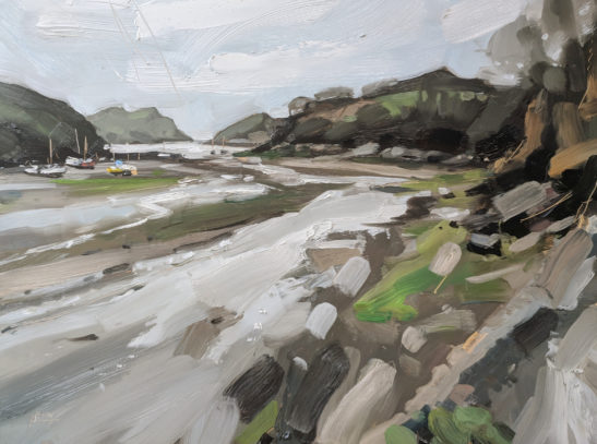 Watermouth 46 x 61 cm oil on board
