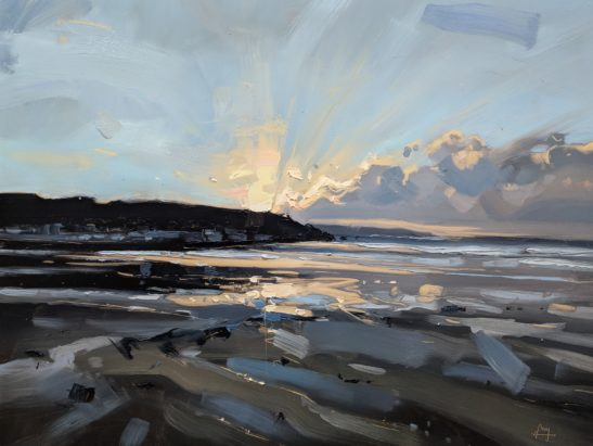 Westward Ho Evening 46 x 61 cm oil on board