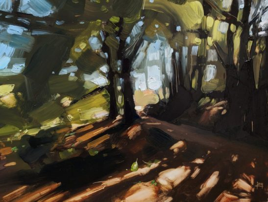 Woods near Robbers Bridge 22 x 30 cm oil on board