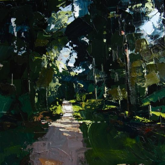 01 bolderwood the new forest 50 x 50 cm oil on board