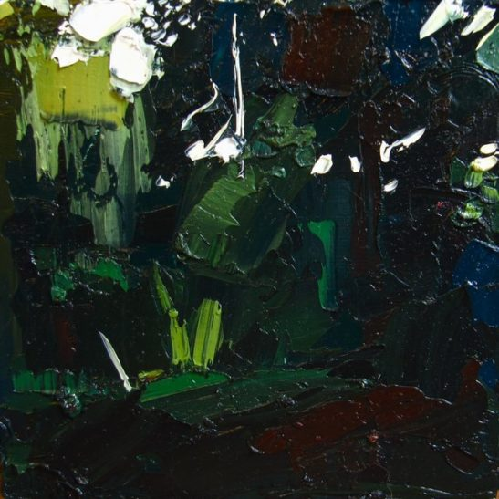 05 forest study 1 20 x 20 cm oil on board