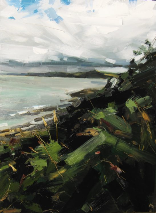 1 A Squall over Bideford Bay from Bucks Mills 60 x 80 cm oil on board scaled