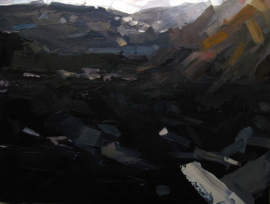 11 winter sun combe martin 60 x 80 cm oil on board