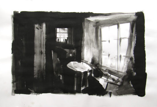 13 Inside the Cabin 59 x 42 cm Bideford Black