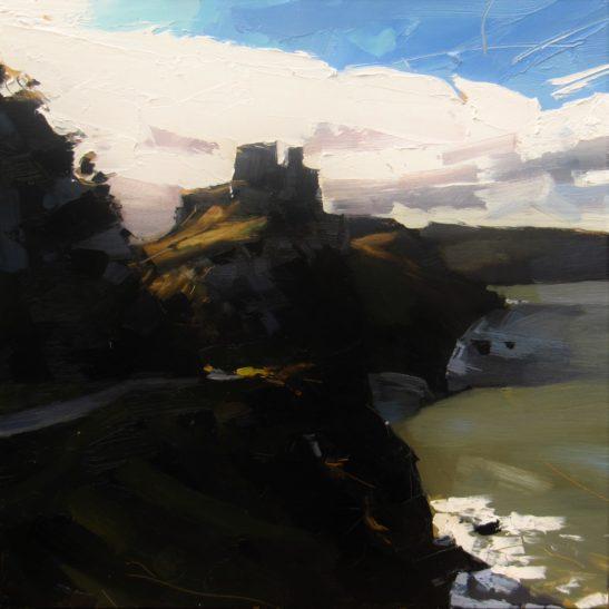 16 Castle Rock Valley of Rocks 50 x 50 cm oil on board