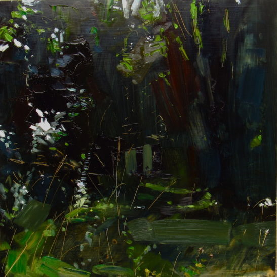 2.5 woodvale cemetery 50 x 50 cm oil on board