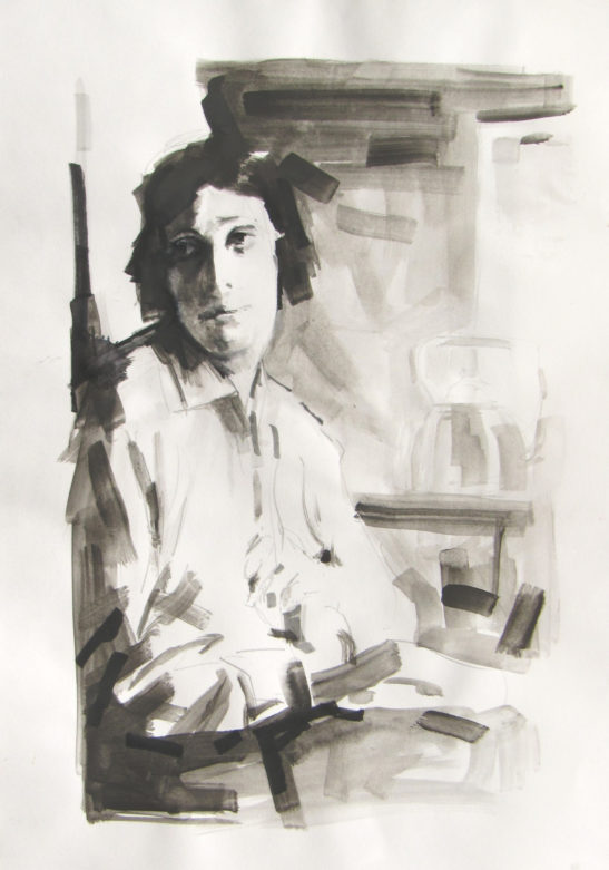 20 Judith Ackland 29 x 42 cm Bideford Black