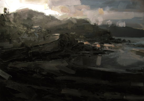 21 combe martin evening 100 x 70 cm oil on board