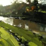 22 The River Taw 20 x 20 cm oil on board