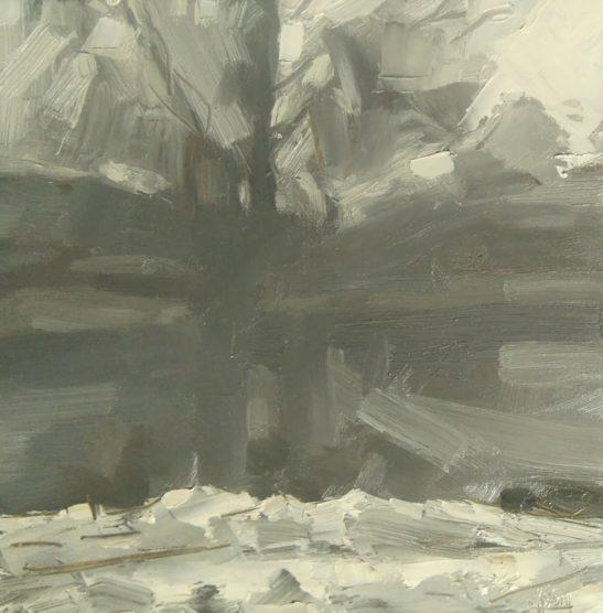 27 Freezing Fog 20 x 20 cm oil on board