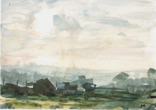 27 bear road 8 30 x 21 cm watercolour