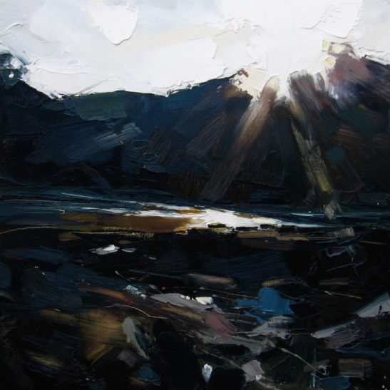 27 combe martin 50 x 50 cm oil on board