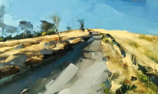 32 Cold and Crispy Codden Hill 15 x 25 cm oil on board
