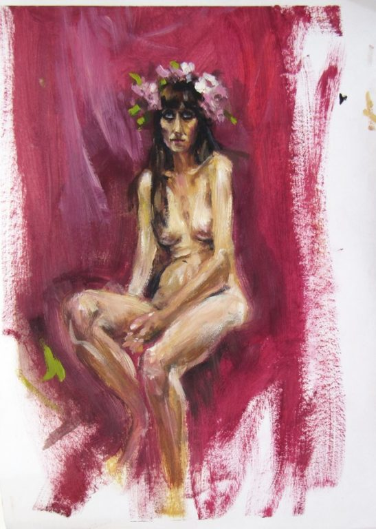 32 life drawing 30 x 40 cm oil on paper