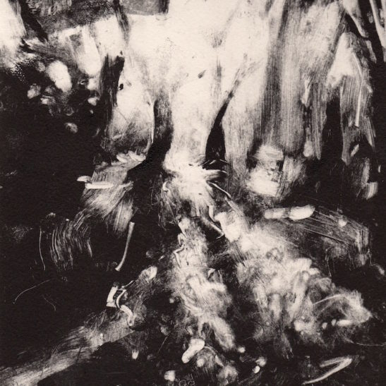 39 asdown forest 20 x 20 cm monotype