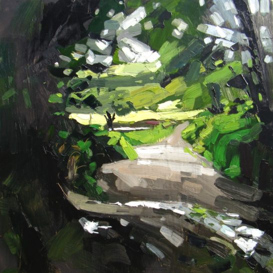 4 Mannings Pit 50 x 50 cm oil on board