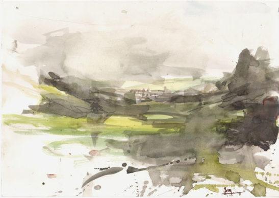 40 wild park 1 30 x 21 cm watercolour