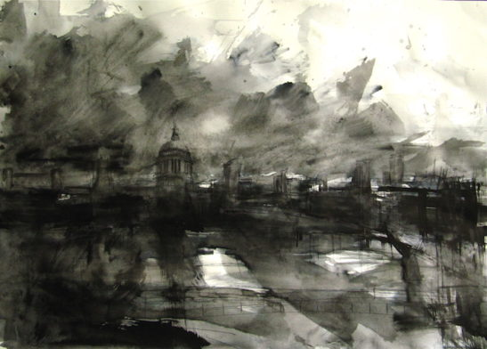 47 thames study 59 x 42 cm ink on paper.