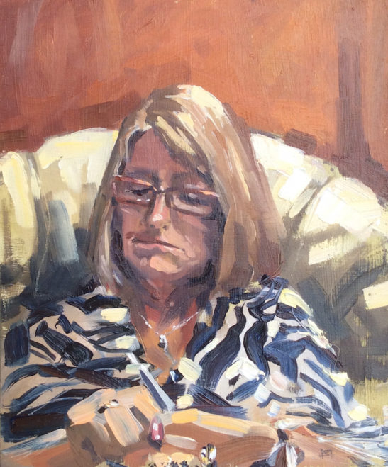48.5 mum 25 x 30.5 cm oil on board
