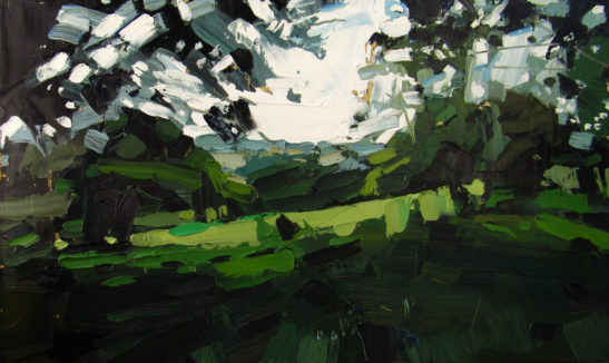 5 A Field in Stowford 50.5 x 30 cm oil on board scaled